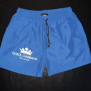 DOLCE GABBANA MEN BLUE SWIM TRUNKS